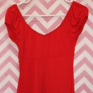 HeartSoul Tops - HeartSoul Red Empire Waist Top Size S